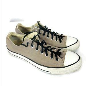 Converse Tan Canvas Skater Shoes Unisex Size 10